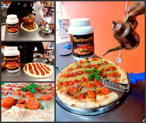 O queijo vegano Queijoquinha é recomendado pela empresa para pizzas e lasanhas (Divulgação)