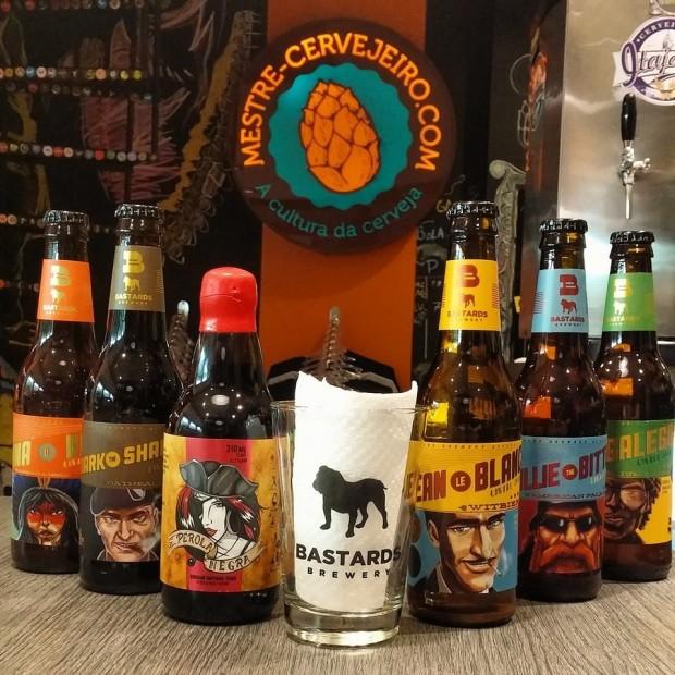 Cervejas da Bastards Brewery, uma das fabricantes que participam do evento (Reprodução)
