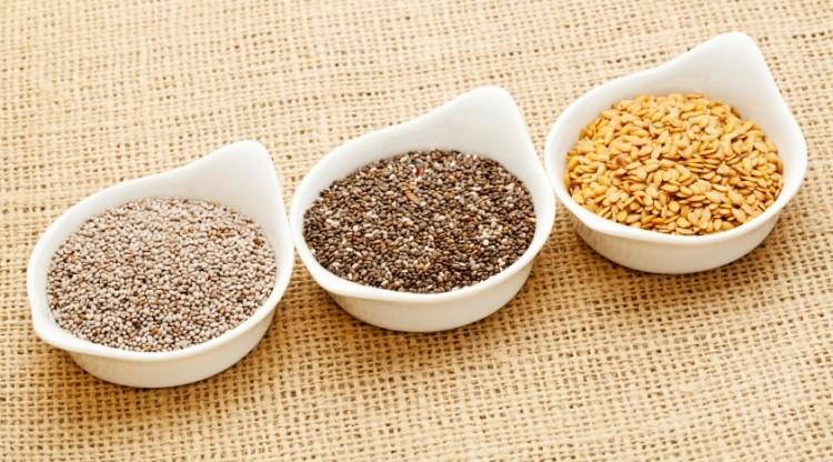 Sementes de cânhamo, chia e linhaça: fontes de ômega-3 para vegetarianos (Reprodução/Citygirlbites.com)